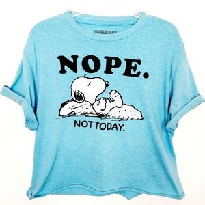 PEANUTS Snoopy Nope Not Today Large Cropped Shirt